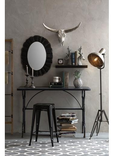 Warm Design Metal Çerçeveli Ayna Kahve